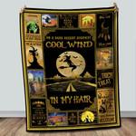 On A Dark Desert Highway Cool Wind In My Hair Halloween Witches Sherpa Blanket Fleece Stadium Blanket Mink Blanket