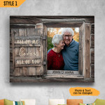 All Of Me Loves All Of You Anniversary Wedding Gift Wall Art Horizontal Poster Canvas