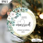 Personalized First Christmas Married Ornament