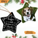 Personalized Dog Memorial Passing Gift - Pet Loss Gift Christmas Star Ornament