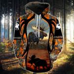 Orange Hunting Moose T-Shirt/Hoodie/Sweatshirt