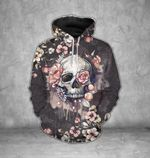 Black Flower Skull T-Shirt/Hoodie/Sweatshirt