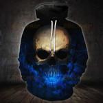 Flaming Blue Skull T-Shirt/Hoodie/Sweatshirt