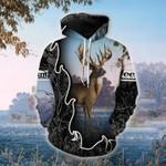 Blue Hunting Deer T-Shirt/Hoodie/Sweatshirt