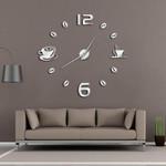 Wall Clock Modern Design Cafe Coffee Mug Wall Decor