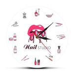 Wall Clock Beauty Salon Nail Studio