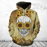 Skull Sunflower Lady T-Shirt/Hoodie/Sweatshirt