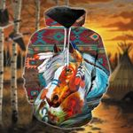 Native American Brown Turquoise Horse T-Shirt/Hoodie/Sweatshirt