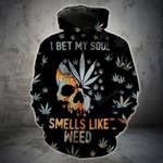 Orange Teal Skull Weed T-Shirt/Hoodie/Sweatshirt