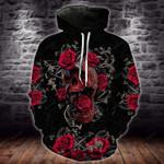 Rose Skull Flower 2 T-Shirt/Hoodie/Sweatshirt