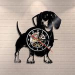 Wirehaired Dachshund Dog Wall Clock Dog Wiener Wall Decor Vintage Clock