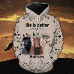 Life Is Better With Horse T-Shirt/Hoodie/Sweatshirt