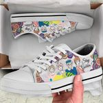 GoldenGIrls Low Top White Shoes