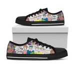 GoldenGIrls Low Top Black Shoes