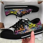 2PAC Low Top Black Shoes