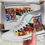 Martin High Top White Shoes