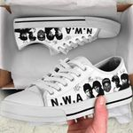 NWA Low Top White Shoes