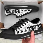 NWA Low Top Black Shoes