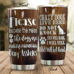 Dog Please Excuse The Mess Stainless Steel Tumbler Perfect Gifts For Dog Lover Tumbler Cups For Coffee/Tea, Great Customized Gifts For Birthday Christmas Thanksgiving