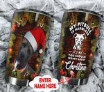 Personalized My Pitbull Is Harmless Christmas Stainless Steel Tumbler Perfect Gifts For Dog Lover Tumbler Cups For Coffee/Tea, Great Customized Gifts For Birthday Christmas Thanksgiving