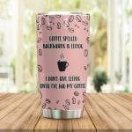 Coffee I Don't Give Eeffoc Stainless Steel Tumbler Perfect Gifts For Coffee Lover Tumbler Cups For Coffee/Tea, Great Customized Gifts For Birthday Christmas Thanksgiving