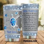 Personalized Turtle They Show Us The Power Stainless Steel Tumbler Perfect Gifts For Turtle Lover Tumbler Cups For Coffee/Tea, Great Customized Gifts For Birthday Christmas Thanksgiving