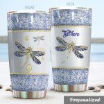 Personalized Dragonfly Stainless Steel Tumbler Perfect Gifts For Dragonfly Lover Tumbler Cups For Coffee/Tea, Great Customized Gifts For Birthday Christmas Thanksgiving