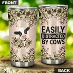Easily Distracted By Cows Stainless Steel Tumbler Perfect Gifts For Cow Lover Tumbler Cups For Coffee/Tea, Great Customized Gifts For Birthday Christmas Thanksgiving
