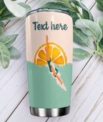 Personalized Swimming Stainless Steel Tumbler Perfect Gifts For Swimming Lover Tumbler Cups For Coffee/Tea, Great Customized Gifts For Birthday Christmas Thanksgiving