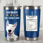 Bull Terrier Dog Amount Per Serving Stainless Steel Tumbler Perfect Gifts For Dog Lover Tumbler Cups For Coffee/Tea, Great Customized Gifts For Birthday Christmas Thanksgiving