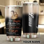 Personalized Native American To My Daughter From Mom If They Whisper To You Stainless Steel Tumbler Perfect Gifts For Native American Lover Tumbler Cups For Coffee/Tea, Great Customized Gifts For Birthday Christmas Thanksgiving