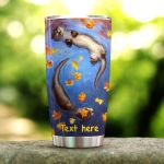 Personalized Otter Stainless Steel Tumbler Perfect Gifts For Otter Lover Tumbler Cups For Coffee/Tea, Great Customized Gifts For Birthday Christmas Thanksgiving