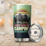 Great Dad Go Camping With Daughter Stainless Steel Tumbler Perfect Gifts For Camping Lover Tumbler Cups For Coffee/Tea, Great Customized Gifts For Birthday Christmas Thanksgiving Father's Day