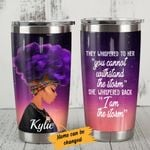 Personalized Black Girl Purple Afro If They Whispered To You Stainless Steel Tumbler Tumbler Cups For Coffee/Tea, Great Customized Gifts For Birthday Christmas Thanksgiving