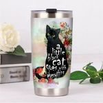 A Little Black Cat Goes With Everything Stainless Steel Tumbler, Tumbler Cups For Coffee/Tea, Great Customized Gifts For Birthday Christmas Thanksgiving
