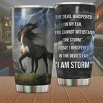 Horse The Devil Whispered In My Ear Stainless Steel Tumbler Perfect Gifts For Horse Lover Tumbler Cups For Coffee/Tea, Great Customized Gifts For Birthday Christmas Thanksgiving