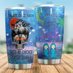 Personalized Salty Little Beach Stainless Steel Tumbler Perfect Gifts For Beach Lover Tumbler Cups For Coffee/Tea, Great Customized Gifts For Birthday Christmas Thanksgiving
