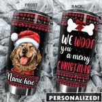 Personalized Labrador We Woof You A Merry Christmas Stainless Steel Tumbler Perfect Gifts For Dog Lover Tumbler Cups For Coffee/Tea, Great Customized Gifts For Birthday Christmas Thanksgiving