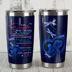 Personalized Dragonfly To My Daughter From Mom You Will Always Be My Baby Girl Stainless Steel Tumbler, Tumbler Cups For Coffee/Tea, Great Customized Gifts For Birthday Christmas Thanksgiving