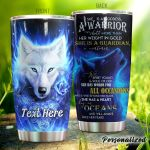 Personalized Wolf She Is A Goddess A Warrior Stainless Steel Tumbler Perfect Gifts For Wolf Lover Tumbler Cups For Coffee/Tea, Great Customized Gifts For Birthday Christmas Thanksgiving
