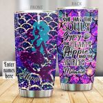 Personalized Spirit Of A Mermaid Stainless Steel Tumbler Perfect Gifts For Mermaid Lover Tumbler Cups For Coffee/Tea, Great Customized Gifts For Birthday Christmas Thanksgiving
