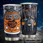 Personalized Cat Halloween Trick Or Treat Stainless Steel Tumbler Perfect Gifts For Halloween Lover Tumbler Cups For Coffee/Tea, Great Customized Gifts For Birthday Christmas Thanksgiving Halloween