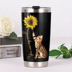 Bengal Cat You Are My Sunshine Stainless Steel Tumbler Perfect Gifts For Cat Lover Tumbler Cups For Coffee/Tea, Great Customized Gifts For Birthday Christmas Thanksgiving