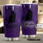 Personalized Black Cat Stainless Steel Tumbler Perfect Gifts For Cat Lover Tumbler Cups For Coffee/Tea, Great Customized Gifts For Birthday Christmas Thanksgiving