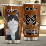 Personalized European Shorthair Cat Let Me Drink Coffee Meow Stainless Steel Tumbler Perfect Gifts For Cat Lover Tumbler Cups For Coffee/Tea, Great Customized Gifts For Birthday Christmas Thanksgiving