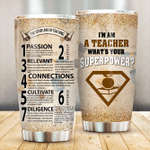 Seven Laws Of Teaching Stainless Steel Tumbler Perfect Gifts For Teacher Tumbler Cups For Coffee/Tea, Great Customized Gifts For Birthday Christmas Thanksgiving