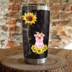 Pig Sunflower You Are My Sunshine Stainless Steel Tumbler, Tumbler Cups For Coffee/Tea, Great Customized Gifts For Birthday Christmas Thanksgiving
