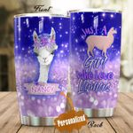 Personalized Just A Girl Who Love Llamas Stainless Steel Tumbler Perfect Gifts For Llama Lover Tumbler Cups For Coffee/Tea, Great Customized Gifts For Birthday Christmas Thanksgiving