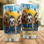 Personalized Sloth Always Stays Humble And Kind Stainless Steel Tumbler Perfect Gifts For Sloth Lover Tumbler Cups For Coffee/Tea, Great Customized Gifts For Birthday Christmas Thanksgiving