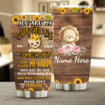 Personalized Lion You Are My Sunshine Stainless Steel Tumbler Perfect Gifts For Lion Lover Tumbler Cups For Coffee/Tea, Great Customized Gifts For Birthday Christmas Thanksgiving